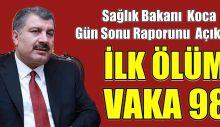 Türkiye Korona'dan İlk Ölüm Gerçekleşti