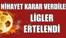Spor Bakanı Kasapoğlu: Liglerin ertelenmesine karar verdik