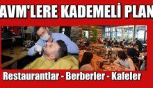 AVM'LERE KADEMELİ PLAN – Restaurantlar-Berberler .