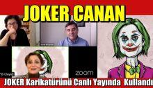 Canan Kaftancıoğlu, Joker karikatürünü canlı yayında fon olarak kullandı