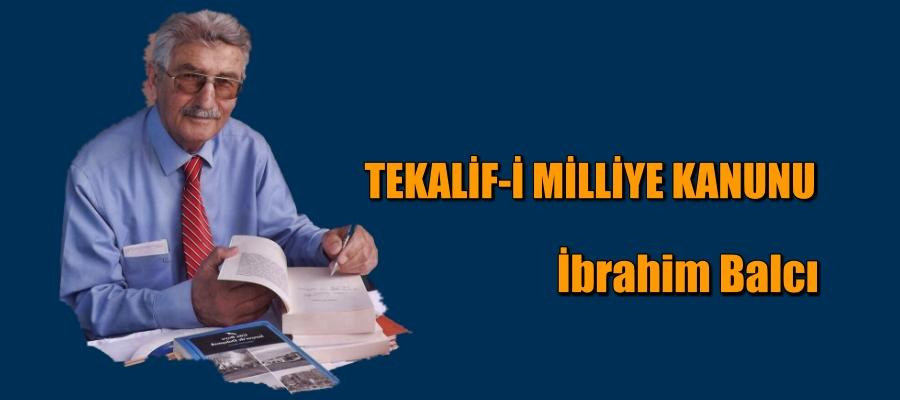 TEKALİF-İ MİLLİYE KANUNU