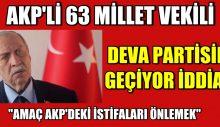 """OKUYAN """"AKP'li 63 milletvekili Ali Babacan'ın partisi DEVA'ya geçiyor"""""""
