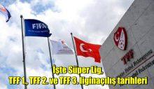 İşte Süper Lig, TFF 1., TFF 2. ve TFF 3. ligin açılış tarihleri