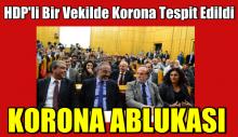 HDP'li bir vekilde korona tespit edildi