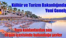 Kültür ve Turizm Bakanlığından Yeni Genelge