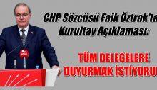 CHP KURULTAY DELEGELERİNE DUYURU
