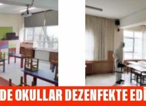 SARIYER'DE OKULLAR DEZENFEKTE EDİLİYOR