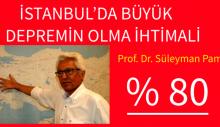 İstanbul'daki büyük depremin olma ihtimali yüzde 80