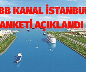 İBB'nin Kanal İstanbul anketinin sonuçları açıklandı