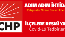 CHP İstanbul'da Covit -19 Tedbirleri Çalışmalara Online Devam