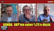 KONDA'dan son açıklama: AKP'nin oyları %25'e düştü