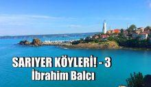 SARIYER KÖYLERİ! -3