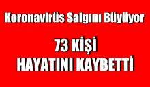 Türkiye'de koronavirüsten 73 kişi daha hayatını kaybetti!