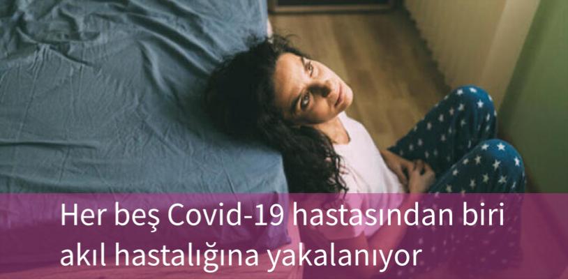 Her beş Covid-19 hastasından biri akıl hastalığına yakalanıyor