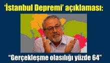 """İstanbul Depremi' açıklaması: """"Gerçekleşme olasılığı yüzde 64"""""""