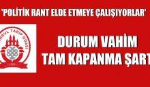 İstanbul Tabip Odası: Durum vahim, tam kapanma şart