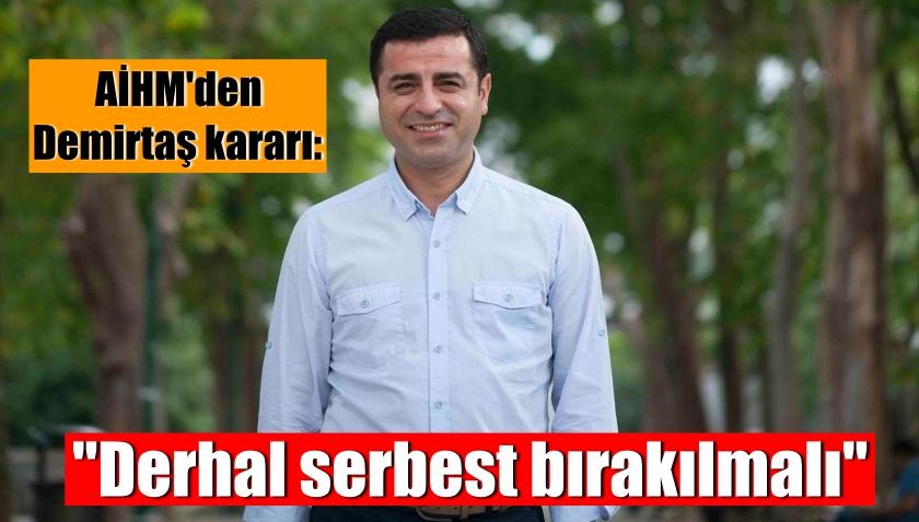 """AİHM'den Demirtaş kararı: """"Derhal serbest bırakılmalı"""""""