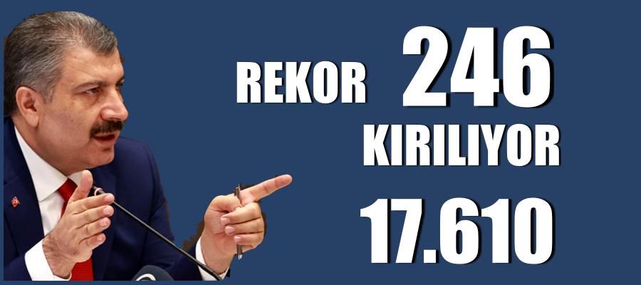 Türkiye'de koronavirüsten 246 kişi daha hayatını kaybetti!
