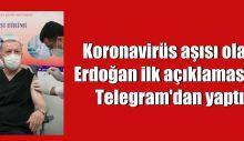 Koronavirüs aşısı olan Erdoğan ilk açıklamasını Telegram'dan yaptı