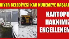 """Sarıyer'de Kar Küreme Çalışmaları """" Kartopu Hakkımız Engellenemez"""""""