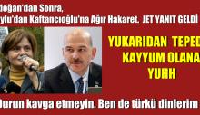Erdoğan'dan Sonra, Soylu'dan Kaftancıoğlu'na Ağır Hakaret. Cevap Hemen Geldi
