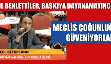 Av. Melendiz Dalyan İzgi : Meclis Çoğunluklarına Güveniyorlar
