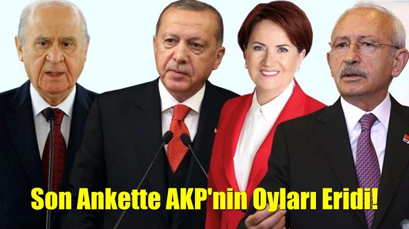 Son ankette AKP'nin oyları eridi!