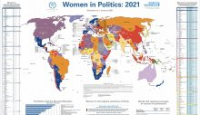 """UN Women – IPU """"Siyasette Kadın 2021"""" haritasına göre:"""