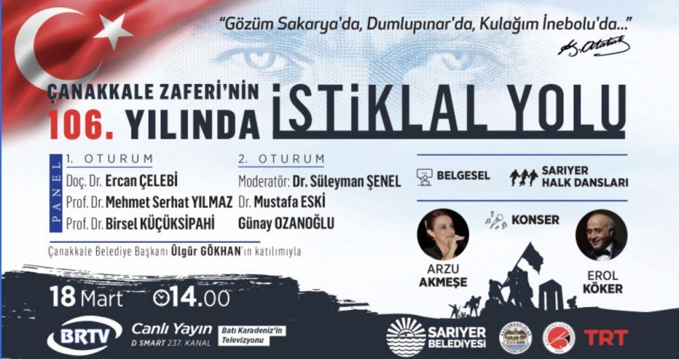 ÇANAKKALE'NİN KAHRAMANLARI SARIYER'DE ANILACAK