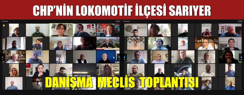 """CHP'NİN LOKOMOTİF İLÇESİ SARIYER """"DANIŞMA MECLİS TOPLANTISI"""""""