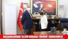 BAŞKANLARDAN 'ELLERİ ARKADA YÜRÜDÜ' GÖNDERMESİ