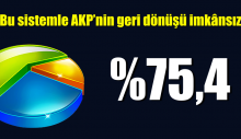Bu sistemle AKP'nin geri dönüşü imkânsız
