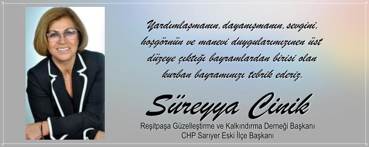 Süreyya Cinik'in Bayram Mesajı