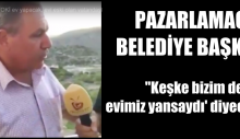 AK Parti'li Pazarlamacı Belediye Başkanı