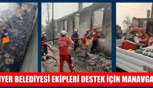 SARIYER BELEDİYESİ EKİPLERİ DESTEK İÇİN MANAVGAT'TA