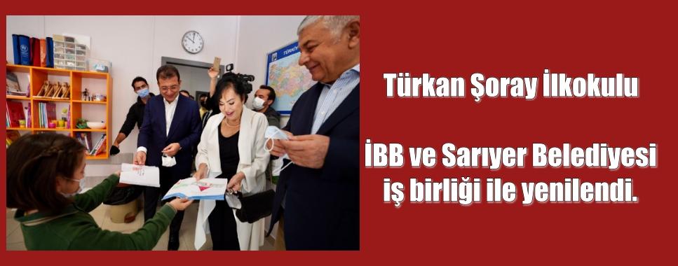 Türkan Şoray İlkokulu İBB ve Sarıyer Belediyesi iş birliği ile yenilendi.