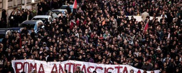 Roma'da Faşizme Karşı Yürüyüş