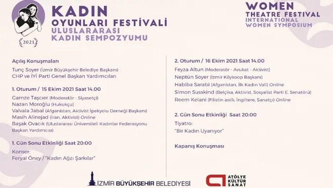 Uluslararası Kadın Sempozyumu 15-16 Ekim'de İzmir'de
