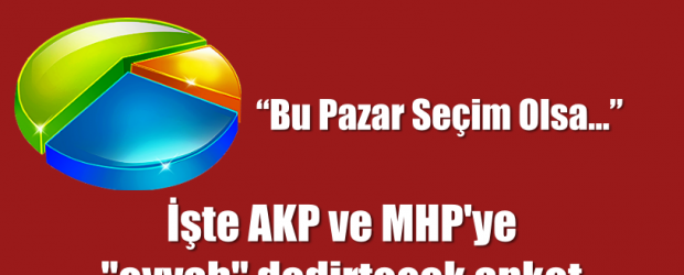 """İşte AKP ve MHP'ye """"eyvah"""" dedirtecek anket"""